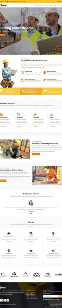 响应式的建筑工业公司bootstrap网站模板