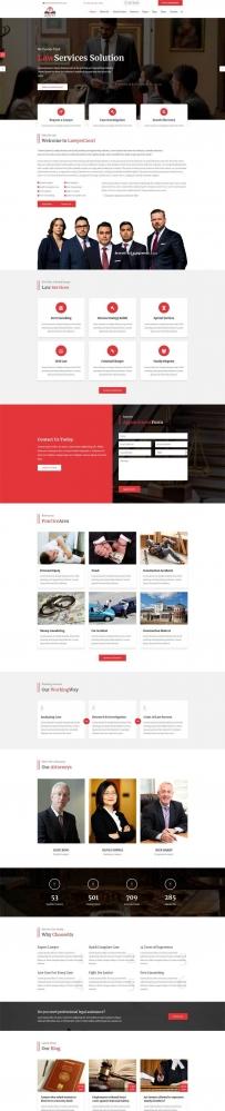 红色大气律师事务所网站Bootstrap模板