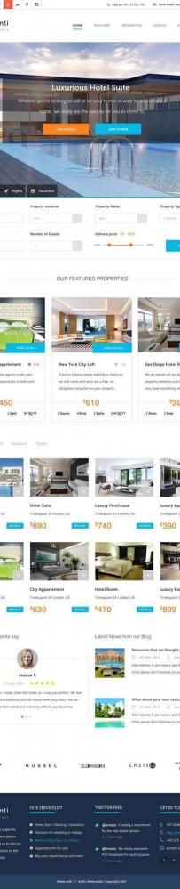 大气的旅游酒店预订一站式服务平台网页模板