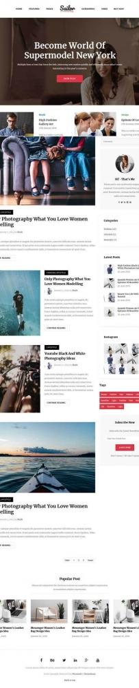 Bootstrap生活类型博客网站模板
