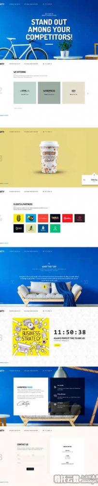 html5全屏的创意广告公司网站展示模板