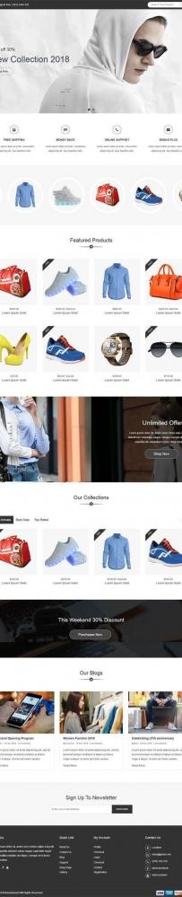 大气的服装包包电子商城网站bootstrap模板