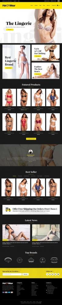 时尚女性内衣内裤商城bootstrap网站模板