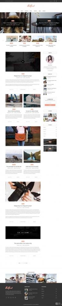通用的摄影图片分享博客网站模板