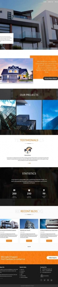Bootstrap房地产开发公司网站模板