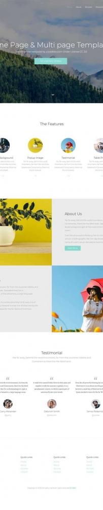 简洁宽屏的图片博客网站html5模板