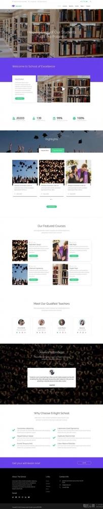 html5大学生教育学校网站响应式模板