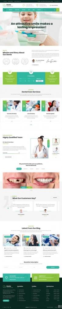 Bootstrap牙科诊所医院网站模板