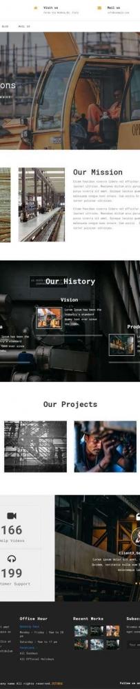 响应式的机械工业集团网站模板