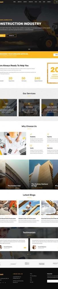 大气的房屋建筑公司bootstrap网站模板