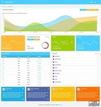 蓝色的商城后台数据管理网站模板