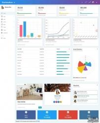 通用的博客论坛网站统计后台页面ui模板
