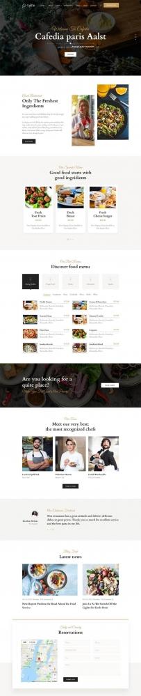 大气响应式餐饮餐厅网站HTML5模板