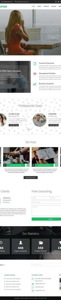 响应式的财务管理咨询公司网站模板