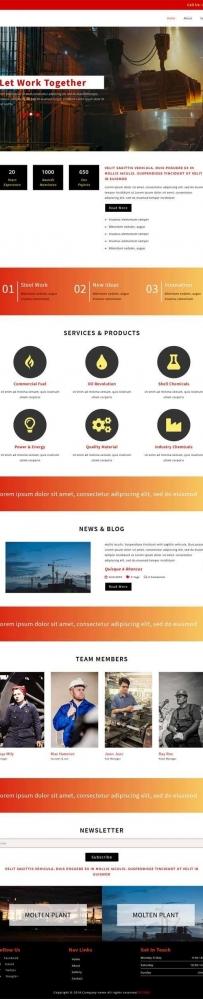 通用的工业机械生产公司网页模板