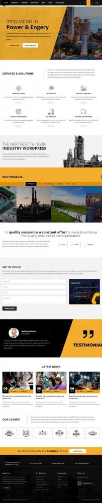 工业燃气制造公司网站bootstrap模板