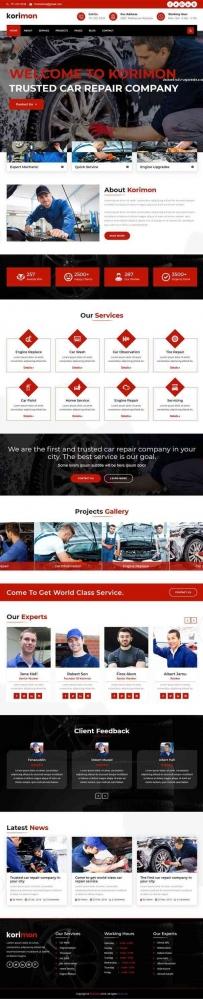 Bootstrap汽车维修4s店网站模板