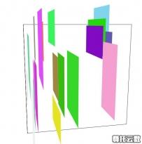 每刷新一次变换一种形状的3D正方形JS特效代码