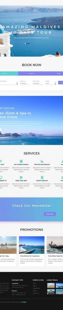 响应式的旅游攻略酒店服务网站模板