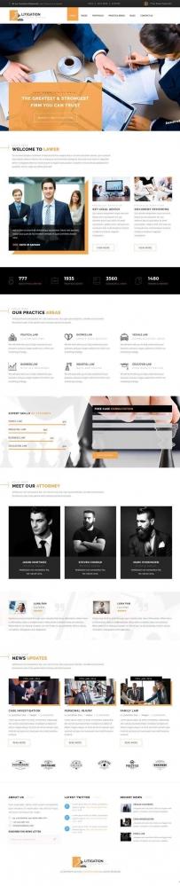 Bootstrap律师法律服务网站模板