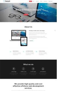 简洁宽屏的商业设计企业通用网站模板