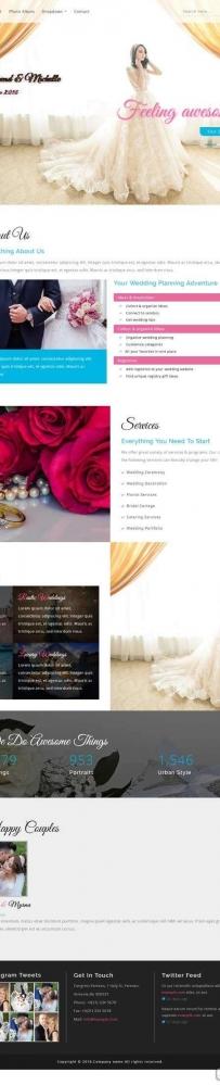 宽屏的婚纱摄影图片展示网站模板