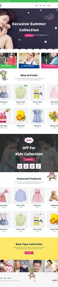 Bootstrap卡通儿童用品童装商城模板