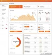 html5比特币交易平台后台管理模板