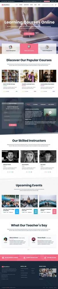 Bootstrap在线课程学习网站模板
