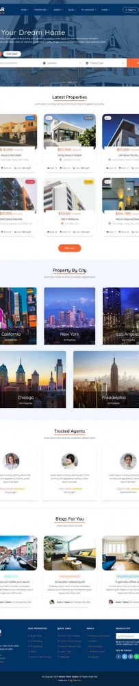 响应式的房产信息交易平台网站模板