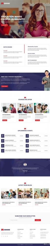 响应式的大学教育学校机构网站模板