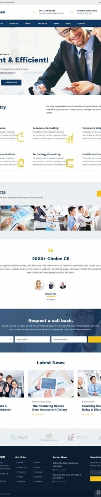 html5金融商务咨询网站响应式模板