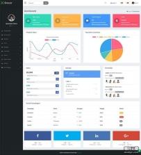 网站业务销量统计管理后台ui框架模板