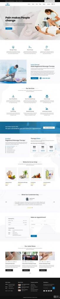 Bootstrap按摩治疗店铺网站模板