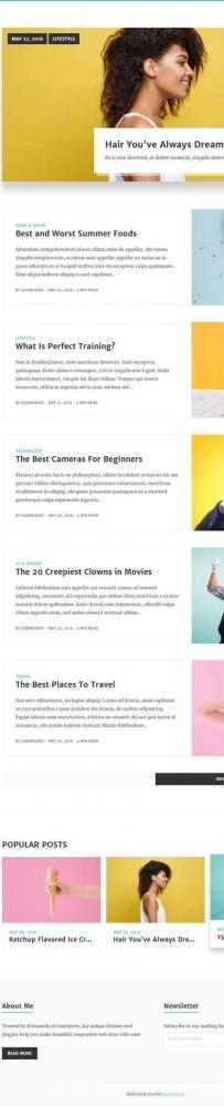 Bootstrap个人摄影图片博客网站模板