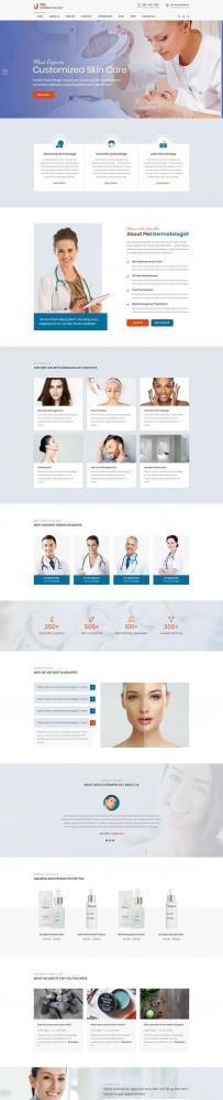 响应式的美容整形医院网站模板