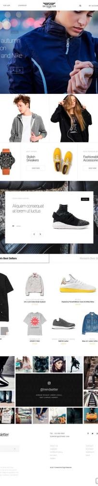 时尚品牌服装鞋子电商购物模板