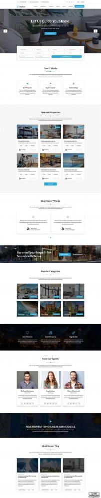 bootstrap房源交易服务平台网站模板