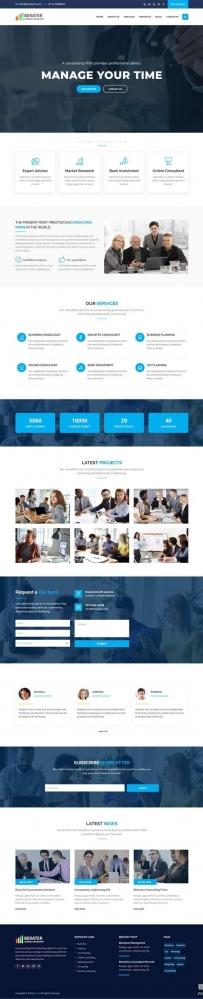 商业管理咨询公司bootstrap网站模板