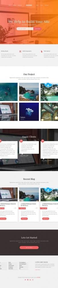 html5通用的企业博客类型网站模板
