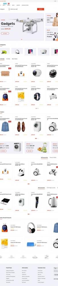 Bootstrap综合分类导航电商网站模板