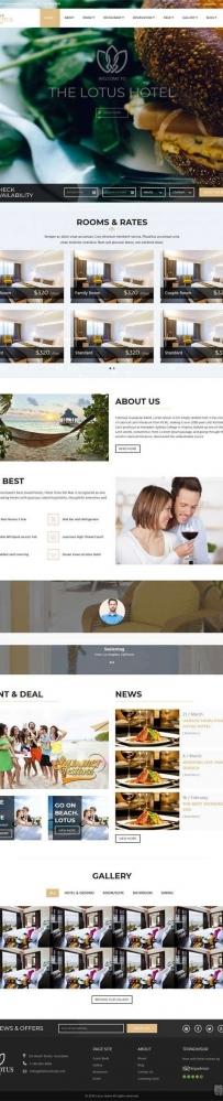 html5大气的旅游度假酒店预订网站模板