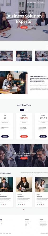 Bootstrap商业投资公司网站模板