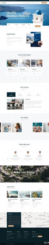 大气Bootstrap度假村酒店网站模板