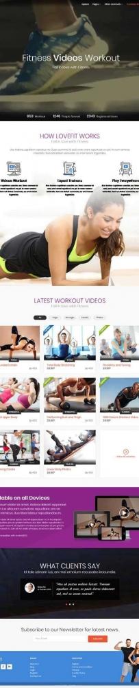 健身私教训练视频教程网站模板
