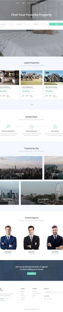 Bootstrap房产中介二手房网站模板