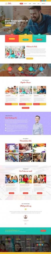 幼儿园儿童教育类网站Bootstrap模板