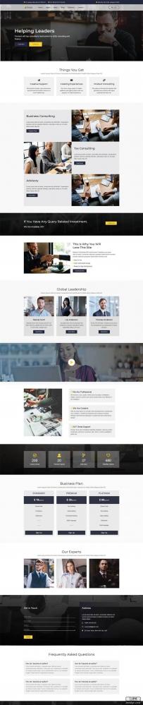 大气的Bootstrap商业咨询公司网站模板