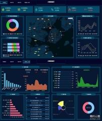 医院大数据统计可视化页面模板