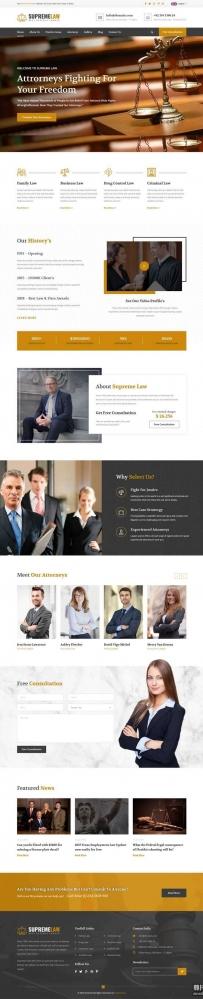 响应式律师法律顾问咨询网站bootstrap模板